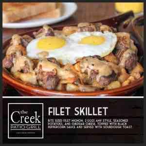 The Filet Skillet - The Creek Patio Grill Sunday Brunch - Cave Creek, Tatum Ranch, Phoenix