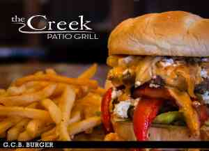 GCB BURGER at The Creek Patio Grill