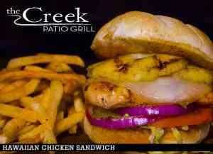 HAWAIIAN CHICKEN SANDWICH at The Creek Patio Grill