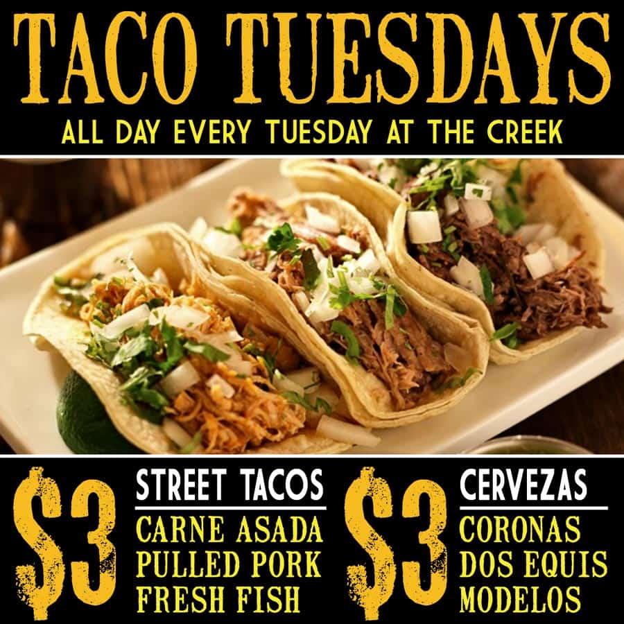Taco Tuesday at The Creek Patio Grill Phoenix Cave Creek Tatum Ranch