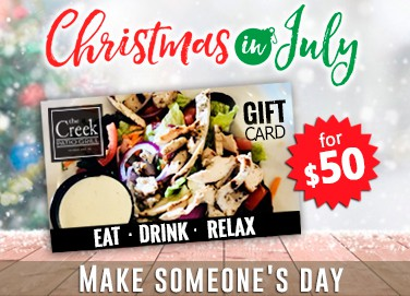 Christmas in July at The Creek Patio Grill.