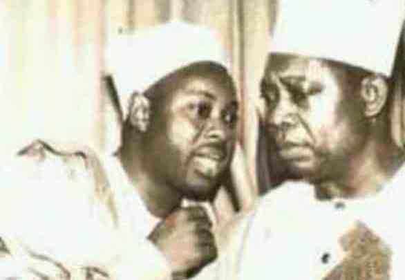 Dele Momodu with the late Business mogul, Basorun M.K.O. Abiola