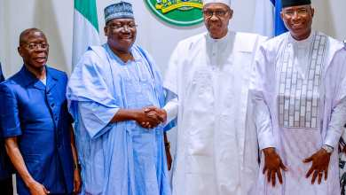 Buhari with Senate leaders