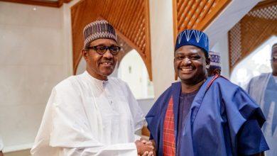President Muhammadu Buhari and Femi Adesina-1