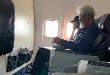 Soyinka on the aircraf