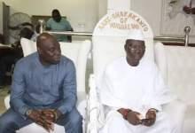 Iba Gani Adams and Mr. Jude Nwankor, leader of the IGP's team