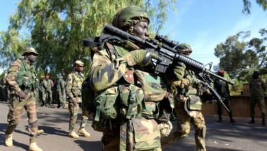 Nigerian troops at the frontline against Boko Haram