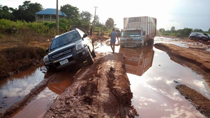 A typical Nigerian road