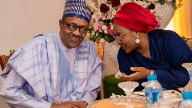 Aisha and her husband, President Buhari