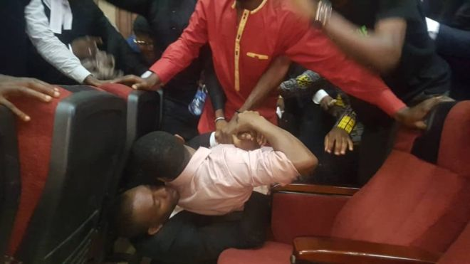 Sowore being abducted in court by operatives of the DSS