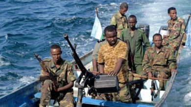 File photo of Somali pirates