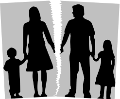 Silhouette of family fueding over children custody(Illustration Credit-Study Ton)