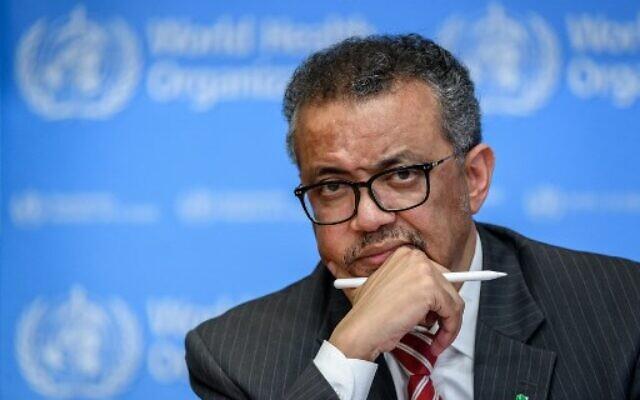 World Health Organization (WHO) Director-General Tedros Adhanom Ghebreyesus (Photo by Fabrice COFFRINI / AFP)