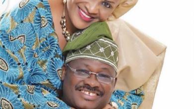 Ex-Gov. Abiola Ajimobi and wife, Florence