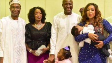 The Olanipekun family with grandchildren