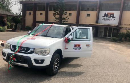 The Isuzu vehicle gift to NTA Abeokuta