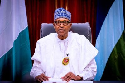 President Buhari delivering his New Year address