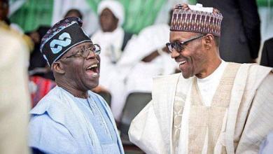 Tinubu and Buhari...it's a laughing matter