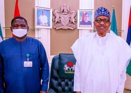 Femi Adesina and President Muhammadu Buhari