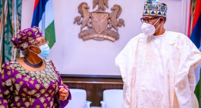 President Muhammadu Buhari and Dr. Ngozi Okonjo-Iweala