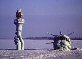 burried statue of liberty