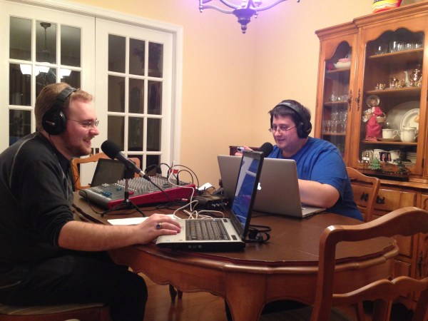 Just us cracking wise right before recording started.