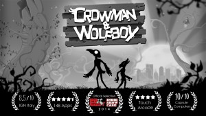 Crowman and Wolfboy in a lovely, dark adventure from Wither Studios. Image courtesy of Wither Studios