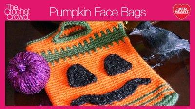 Pumpkin Face Trick or Treat Bags + Tutorial