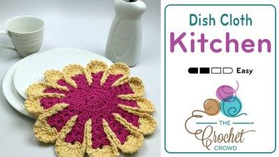 Crochet Chrysanthemum Dishcloth + Tutorial