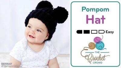 Crochet Adorable Pompom Hat Pattern + Tutorial