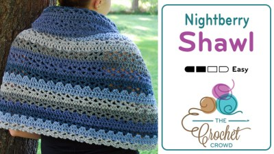 Crochet Nightberry Shawl