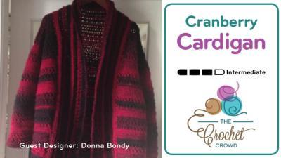 Crochet Cranberry Dream Cardigan by Donna Bondy