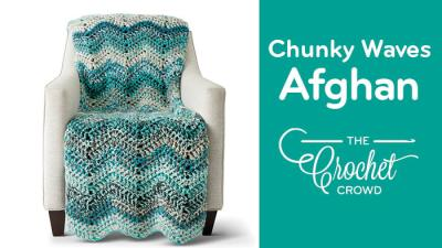 Crochet Chunky Waves Afghan + Tutorial