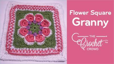 Crochet Flower in the Granny Square + Tutorial