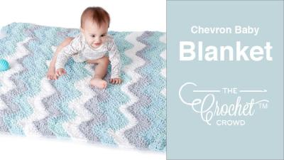 Crochet Baby Chevron Blanket + Tutorial
