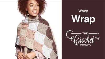 Crochet Wavy Wrap + Tutorial