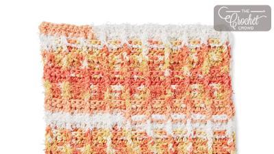 Crochet Scrubbing Waffle Dishcloth + Tutorial