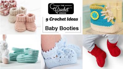 9 Crochet Baby Booties