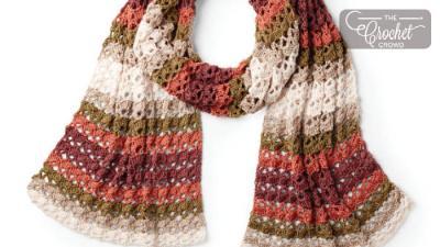 Crochet Striping Shells Shawl + Tutorial