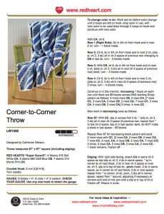 Corner To Corner Scarf Pattern Tutorial