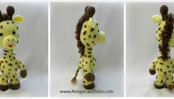 April's Baby: Giraffe Bookmark Amigurumi Crochet Pattern | 200x350