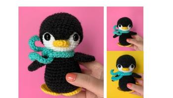 Free Pattern Friday: Sitting Alligator Amigurumi | Crochet animals ... | 200x350