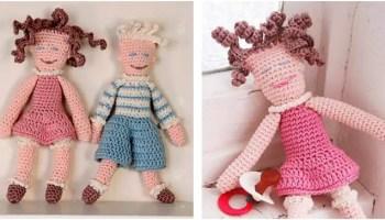 Crochet doll PATTERN, AMIGURUMI pattern, amigurumi doll pdf ... | 200x350