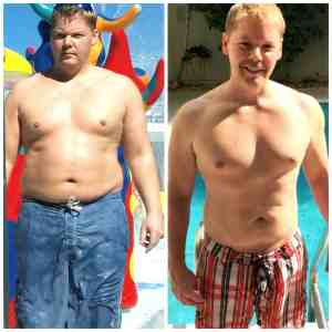 Weight loss after just a few months of personal training with JC Cross