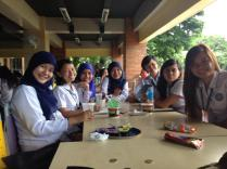 Lunch with classmates