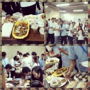 Our final exam for Philosophy of Religion class! A lunch with classmates featuring your culture's famous dishes! I belonged to Chavacano group even though I could also be part of the Chinese community and Tagalog community.