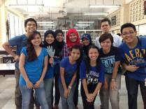 Facilitating a Microbiology workshop for high school students in our very own laboratory.