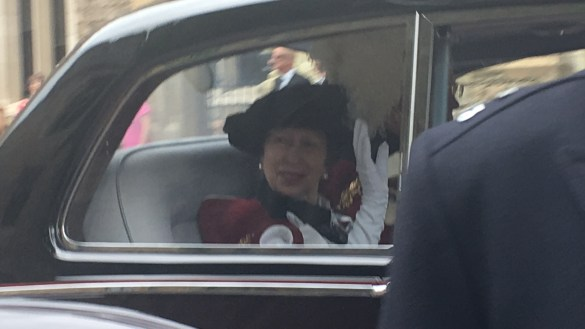 Garter Day procession called off by rain…Royals use cars