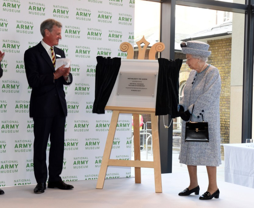 The Queen unveiled a plaque to mark the re-opening of the National Army Museum Richard Watt / MoD