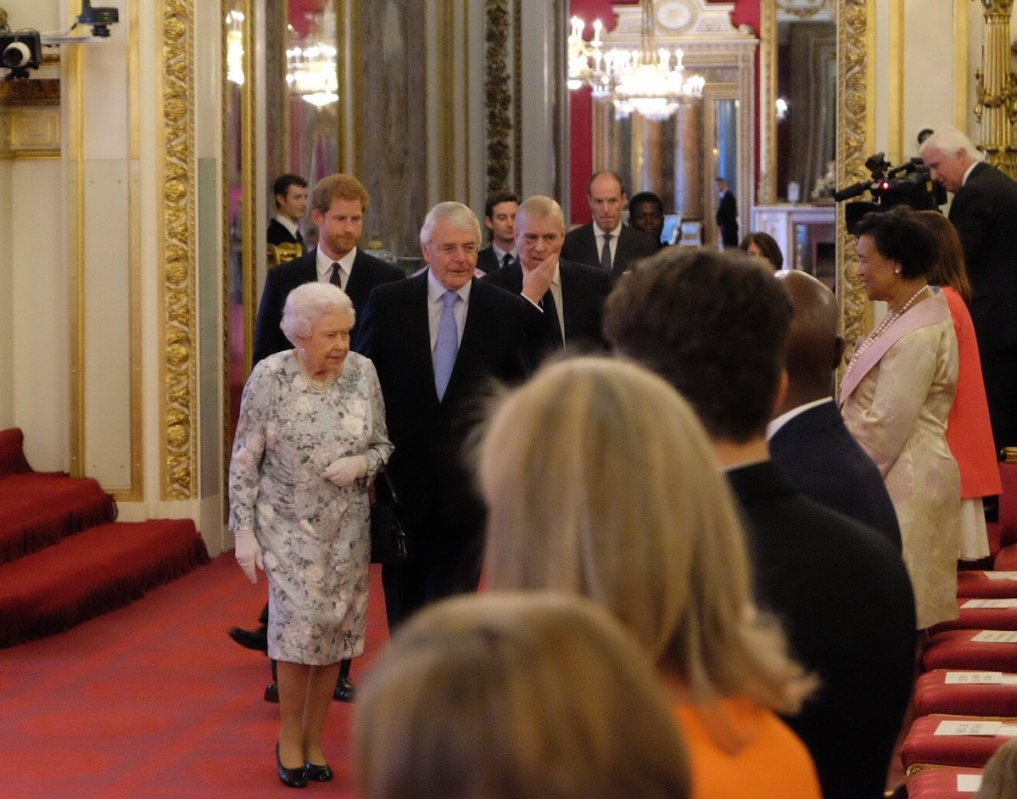 The Queen was joined by Prince Harry, Prince Andrew and Sir John Major for The Queen's Young leaders Awards (Royal Family)